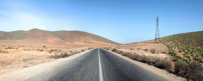 Perspective of road in Morocco Stock Image