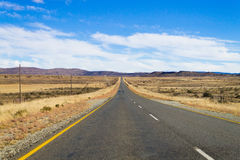 Perspective road from Orange Free State, South Africa Stock Image