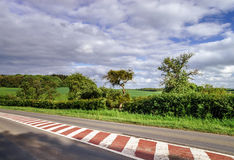 Perspective road view in countryside Stock Images