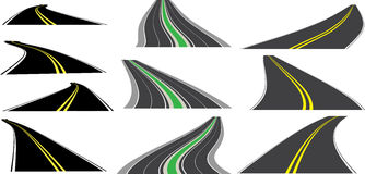 Perspective roads Royalty Free Stock Image
