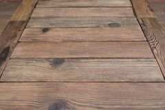 Perspective Of Rustic Wood Planks Or Table Or Floor Royalty Free Stock Photos