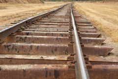 Perspective of rusty railway Stock Images