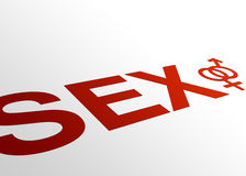Perspective Sex. High resolution perspective graphic of sex with gender icons Stock Photos