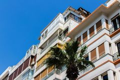 A perspective shoot from some new buildings. Photo has taken from izmir/turkey royalty free stock photos