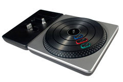 Perspective Shot DJ Turntable Royalty Free Stock Photos