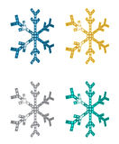 Perspective Snowflakes Stock Images