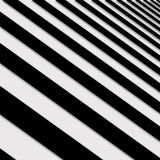 Perspective Solid Lines Black and White Illustration Stock Photography