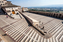 Perspective of the square of St. Francis of Assisi. Royalty Free Stock Image