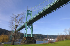 A perspective of the St. John bridge. Royalty Free Stock Photography