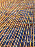Perspective of Steel Rebar at the construction site Royalty Free Stock Images