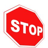 Perspective Stop sign Stock Photo
