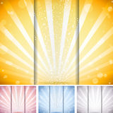 Perspective Striped Background. Set of 4 colors Royalty Free Stock Photo