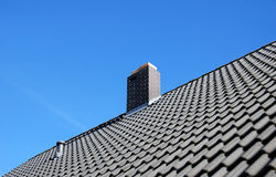 Perspective tiled roof Royalty Free Stock Photography