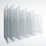 Perspective transparent glass siny gray abstract. 3d perspective transparent glass siny gray abstract rectangles on white background. RGB EPS 10 vector vector illustration