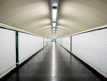 Perspective tunnel in the metro without people Stock Photography