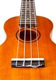 Perspective of ukulele isolated Stock Image
