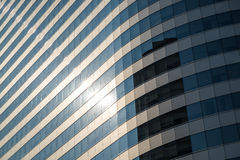 Perspective underside angle view of office building Royalty Free Stock Photography