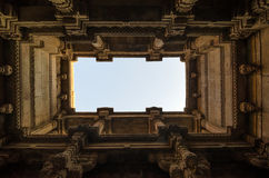 Perspective View of Adalaj Stepwell in Ahmedabad Stock Photography