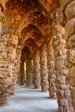 Perspective view in the archway from stones royalty free stock photos