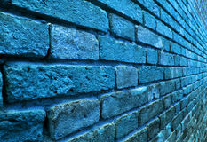 Perspective view of a blue wall Stock Photography