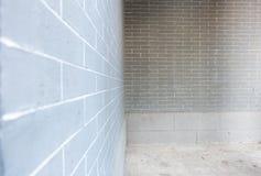 Perspective view of brick wall at park. Royalty Free Stock Photo