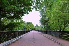 Perspective view of bridge stock photo