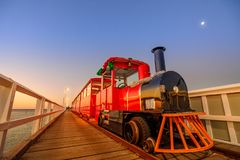Busselton jetty train Stock Images