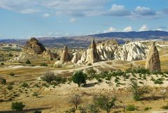 Perspective view in Cappadocia Stock Images
