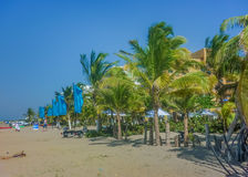 Perspective View of Cartagena Beach Royalty Free Stock Images