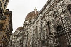 Cathedral of Santa Maria del Fiore, Florence. Perspective view of the Cathedral of Santa Maria del Fiore in Florence, Itlaia royalty free stock photography