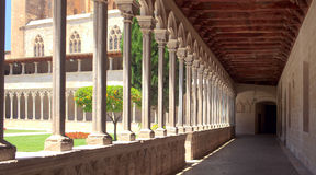 Perspective view of the cathedral terrace Royalty Free Stock Photo