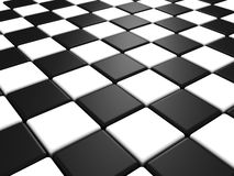 Perspective view of a chess or checker board. Background Stock Image