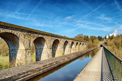 Perspective view of Chirk viaduct and aquaduct Stock Photography