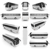 12 perspective view of City bus with blank surface for your crea Royalty Free Stock Photography