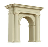 Perspective view of a classic arch Royalty Free Stock Images