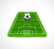 Perspective view of an empty soccer field with realistic grass Baseball field with real grass textured, Vector & illustration Royalty Free Stock Images