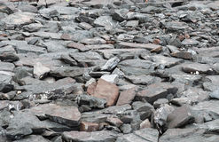 Perspective view of Grunge Gray Natural Stone on The Ground for Street Road. Sidewalk, Driveway, Pavers Royalty Free Stock Photography