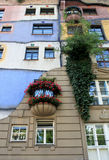 Perspective view of Hundertwasser house in Vienna Royalty Free Stock Photography