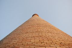 Perspective view of minaret in Tashkent. Royalty Free Stock Photo