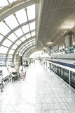 Modern undeground station filled with light. Royalty Free Stock Photo