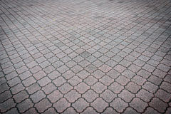 Perspective View of Monotone Gray Brick Stone royalty free stock image