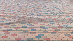 Free Perspective View Of Colorful Brick Stone Street Road. Sidewalk, Pavement Texture Background Stock Image - 67853451