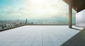 Free Perspective View Of Empty Concrete Tiles Floor Of Rooftop Royalty Free Stock Photography - 193097827