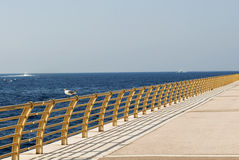 Perspective view of a pier. Stock Image