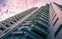 Perspective view of public residential housing apartment in Bukit Panjang. Stock Image