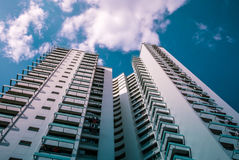 Perspective view of public residential housing apartment in Bukit Panjang. royalty free stock photography