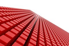 Perspective view of red color grossy cubes or boxes. Shape, pattern, dreamy, generative, style & backdrop. Perspective view of red color grossy cubes or boxes Royalty Free Stock Images