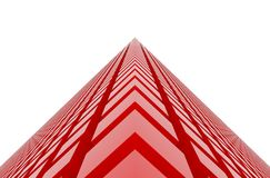 Perspective view of red color grossy cubes or boxes. Shape, pattern, graphic, background, wallpaper & blur. vector illustration