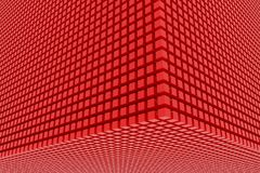 Perspective view of red color grossy cubes or boxes. Shape, pattern, colorful, wallpaper, smooth & artwork. Perspective view of red color grossy cubes or boxes Stock Images