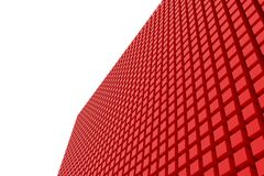 Perspective view of red color grossy cubes or boxes. Shape, pattern, colorful, wallpaper, white & creative. Perspective view of red color grossy cubes or boxes Stock Photography